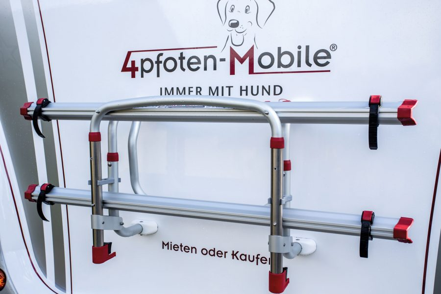 Rear carrier for two bicycles.
